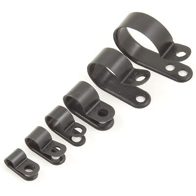 £3.25 • Buy Nylon Black Plastic P Clips - Fasteners For Cable, Conduit, Tubing, Sleeving Etc