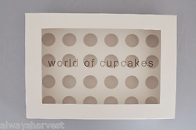 AU35 • Buy 24 Hole Mini 4.5 Cm Diameter Cupcake Cup Cake Clear Window Box Boxes Set Of 10
