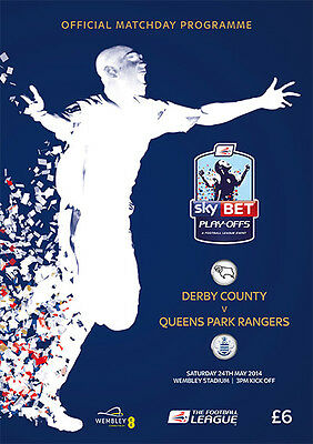 £5.99 • Buy * DERBY COUNTY V QPR - 2014 CHAMPIONSHIP PLAY-OFF FINAL - MINT PROGRAMME *
