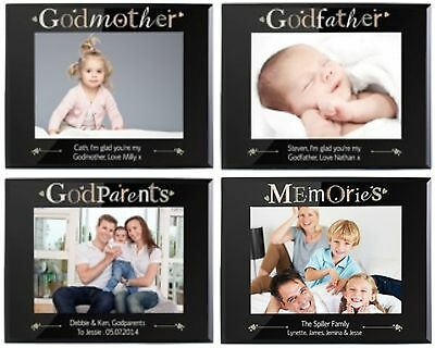 £21.50 • Buy PERSONALISED PHOTO FRAME Gifts For GODPARENTS GODMOTHER GODFATHER Presents