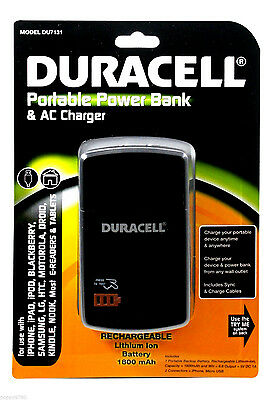 £14.54 • Buy DURACELL Portable Power Bank Backup Battery Samsung Cell Phone Charger DU7131