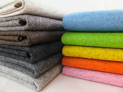 100% Wool Felt 1mm Thick Per Metre Sheet 90cm Wide Natural Melange Colours • 1.50£