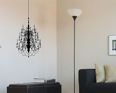 £14.12 • Buy Chandelier Wall Decal Large Removable Sticker Decor Mural Art Graphic Accent