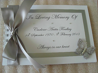 £15.99 • Buy Personalised Book Of Condolence Funeral/memory Message Book