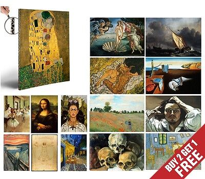 $ CDN6.90 • Buy FAMOUS PAINTERS CLASSIC PAINTINGS A4 Poster Fine Art Print Home Cafe Wall Decor
