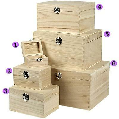 Wooden Treasure Chests Storage Pirate Boys Decorate Plain Trinket Sizes Box Set • 2.99£