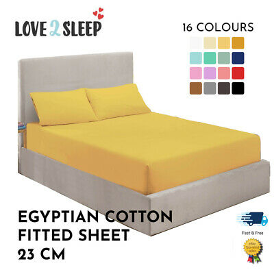 £10.25 • Buy Full Fitted Sheet 100% Egyptian Cotton Single 4FT Double King Superking Bunk