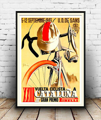 Cycling Tour :  Vintage Advertising Poster Reproduction • 3.99£