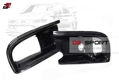 $159.99 • Buy Mitsubishi Evolution EVO 9 Carbon Fiber Dual Air Oil Intake Front Bumper Ducts