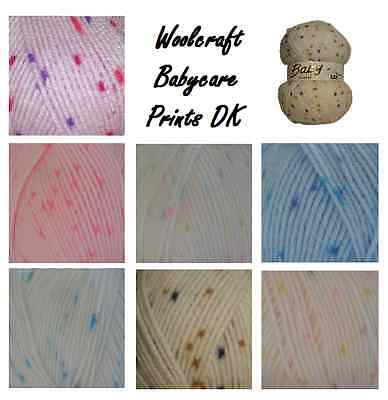 Baby Wool Prints DK Double Knitting & Crochet Soft Yarn, Babycare From Woolcraft • 2.49£
