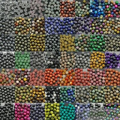 $ CDN1.31 • Buy Natural Gemstone Round Spacer Beads 4mm 6mm 8mm 10mm 12mm Wholesale Assorted