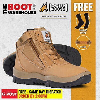 AU142.95 • Buy Mongrel Work Boots 961050, Wheat, Soft Toe, Non Safety, Nubuck, Zip Sider. NEW!