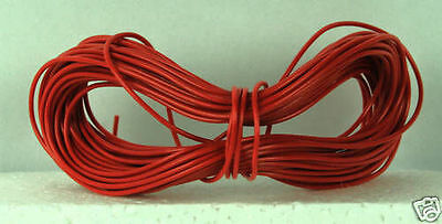Model Railway Peco Or Hornby Point Motor Etc Wire 1 X 20m Roll 7/0.2mm 1.4A Red • 4.63£