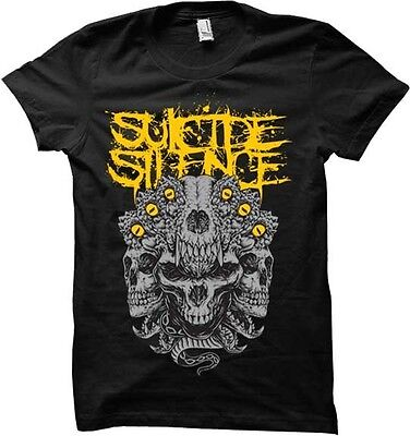 £11.46 • Buy SUICIDE SILENCE - Skull Kingdom - T SHIRT S-M-L-XL Brand New Official