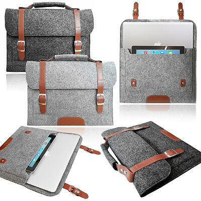 $13.91 • Buy Smart Laptop Felt Sleeve BAG With HANDLE Stylish Case Cover For Apple MacBook