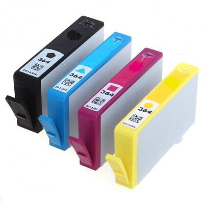 4 HP 364 MultiPack Ink Cartridge Black Cyan Magenta Yellow Inkjet Full Set Combo • 12.85£