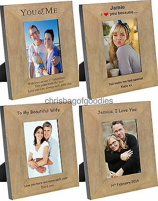 £18.50 • Buy PERSONALISED Picture PHOTO Frame For My WIFE GIRLFRIEND FIANCE Birthday Gifts