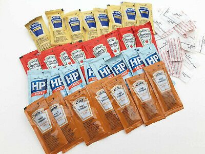 Heinz Essential Condiment And Sauce Sachets Travel Pack - 73 Items • 4.99£
