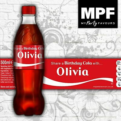 £2.95 • Buy Personalised Birthday 'Share A Cola' Bottle Labels (Coke / Diet / Zero)
