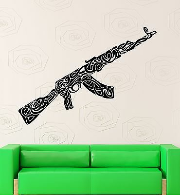$49.99 • Buy Wall Stickers Vinyl Decal War Weapons Military Ak-47 Pattern Decor (ig2274)
