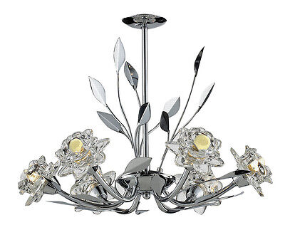 £152.05 • Buy TP24 Piccadilly Covent Garden 6x3W LED Pendant Chrome Glass Ceiling Light Chain