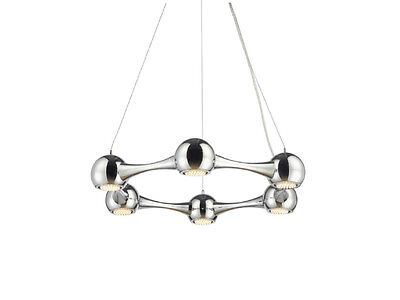 £182.52 • Buy TP24 Central Perivale 6 X 3W G40 LED Round Pendant Ceiling Light Chrome