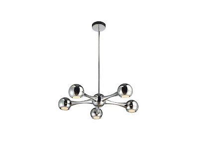TP24 Central Perivale 5 X 3W G40 LED Round Pendant Ceiling Light Chrome • 157.93£
