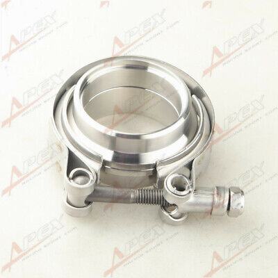 $ CDN20.83 • Buy 2  Self Aligning Male/Female V-Band Vband Clamp CNC Mild Steel Flange Kit