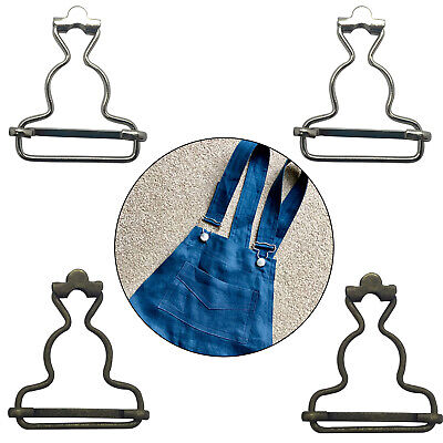 £2.49 • Buy 2pcs Dungaree Fasteners Clip Brace Buckles In Silver Or Bronze Color Slider Bar