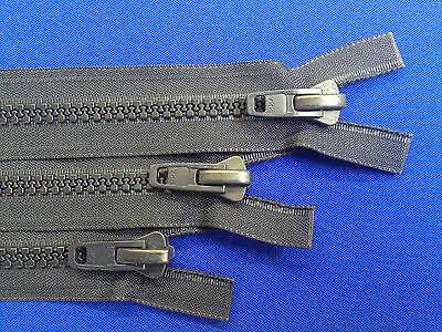 Zip Open Ended Navy Ykk Plastic Non Rust 10 Weight Chunky All Plastic Heavy Duty • 3.59£