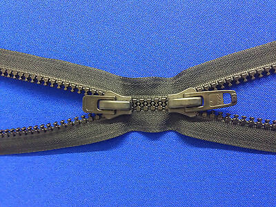 Zip Open End 2 Way Ykk All Plastic Black Double Slider 10 Weight Non Rust Chunky • 3.99£