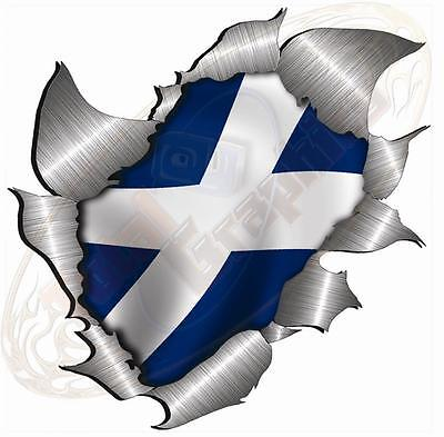 Single Metal Rip Torn Flag St Andrews Saltire Scotland JDM Race Car Van Bike VW • 2.49£
