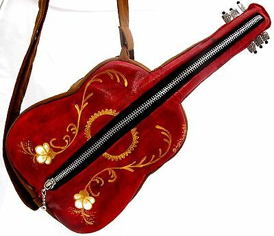 $ CDN85.62 • Buy Red Elegance Guitar Purse From With Adjustable Straps, Music Handbag Xmas Gift