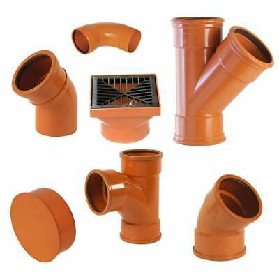 YDS 110mm (4 ) Underground Drainage Pipes, Fittings, Junctions & Bends • 4.22£