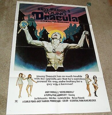 $99.99 • Buy ANDY WARHOL'S YOUNG DRACULA 1974 HORROR MOVIE POSTER ROMAN POLANSKI  27x41