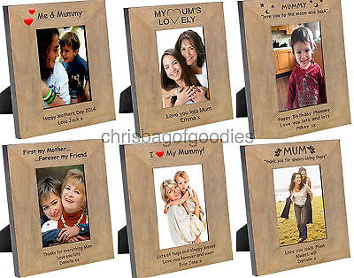 PERSONALISED PHOTO Frame For MUM MUMMY I Love My Birthday Mothers Day Gifts Idea • 18.50£