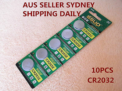 AU4.44 • Buy 10pcs CR2032 Button Cell Battery Coin Lithium Battery 3V Watches Toys Calculator
