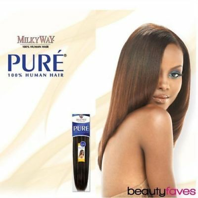 $23.72 • Buy Pure Yaky Weave By Milkyway 100% Human Hair Extension 8  10  12  14  16