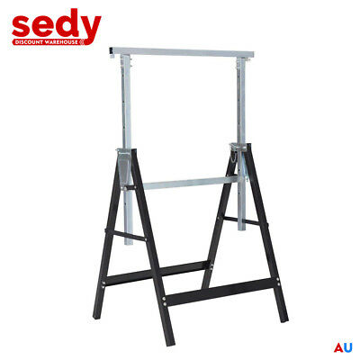 AU54.99 • Buy Telescopic Trestle Saw Horse Foldable Steel Work Stand Workbench Support