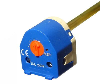 18  Immersion Heater Thermostat | Dual Safety Thermal Cutout | Suits 27  Element • 14.51£
