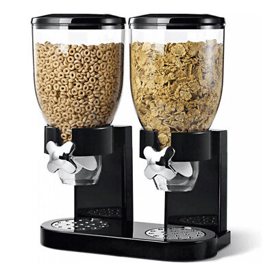 £19.89 • Buy Cereal Dispenser Double Size Dry Food  Kitchen Storage Twin Container Machine