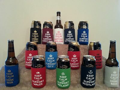 £3.95 • Buy Fun Gift! Can Cooler Keep Calm Cooler Various Designs, 3 For £10!!