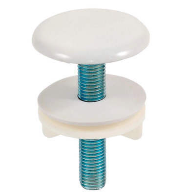 White Brass Kitchen Sink Tap Hole Blanking Metal Plug 50mm Plate Stopper Cover • 3.71£