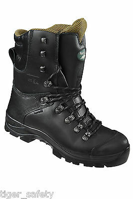 Rock Fall RF328 Chatsworth Black Chainsaw Boots Steel Toe Cap Safety Boots • 194.99£
