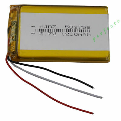 £3.90 • Buy 3.7V 1200 MAh 3 Wires Thermistor Polymer Li Battery For Tablet PC PDA GPS 503759