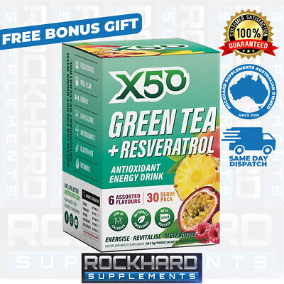 AU34.95 • Buy Green Tea X50 Assorted Pack 30 Serves New 6 Flavours - Tribecca Health