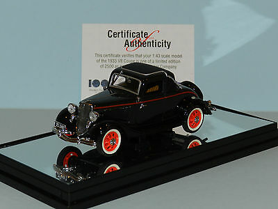 AU35 • Buy Carlectables 1/43 1933 Ford V8 Coupe Black/Red Trim MIB