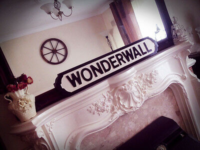 Oasis Inspired Wonderwall Street Sign Whats The Story Brit Pop Noel Gallagher • 35£