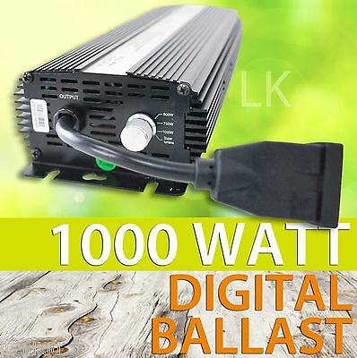 1000W Digital Electronic Ballast Dimmable HPS MH Switchable 120V 240V Volta • 98.56£