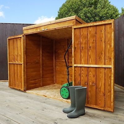 WOODEN GARDEN STORAGE SHED 5ft X 3ft TOOL LAWN MOWER TOY WOOD STORE SHEDS 5 X 3 • 199.94£